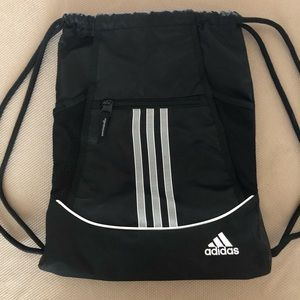 Adidas black and white Alliance Sackpack
